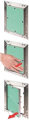 Trappe de r/évision 300 x 600 mm avec plaque de pl/âtre de 12,5 mm Force L11 Porte de r/évision de porte de maintenance 30 x 60 cm Ouverture de nettoyage avec cadre en aluminium Convient pour locaux humides Vert