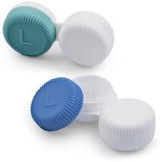 Plana recipiente/estuche para lentillas para contacto lentes todo tipo de | Antimicrobios: Amazon.es: Salud y cuidado personal