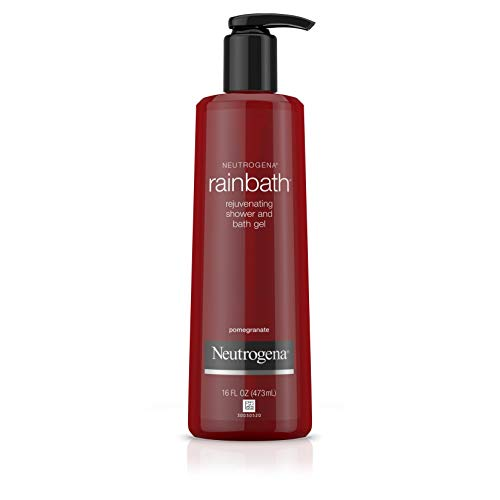 Neutrogena Rainbath Rejuvenating and Cleansing Shower and Bath Gel, Moisturizing Body Wash and Shaving Gel with Clean Rinsing Lather, Pomegranate Scent, 16 fl. oz