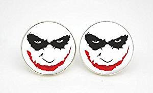 Vintage Joker Face Glass Fashion Earrings Accessories-TV set Style Ear Rings-Handmade Silver Post Jewellery–Earrings Jewelry For Women