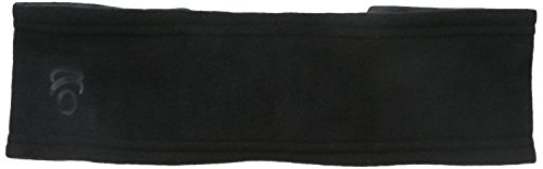 Cuddl Duds Women's Reversible Fleece and Jersey Headband, Black, One Size