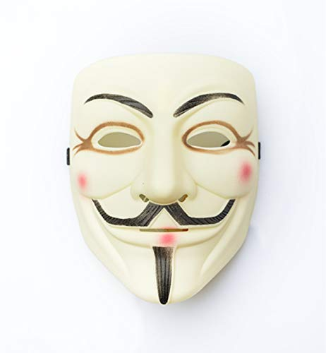 Guy Fawkes V Vendetta Mask Anonymous Fancy Cosplay Costume]()