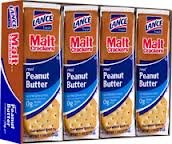 Lance Malt Crackers with Real Peanut Butter - 3 Boxes of 8 Individual Packs ()