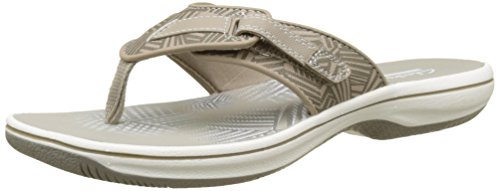 Clarks Brinkley Quade, Sandalias de Punta Descubierta para Mujer Beige (Sand Synthetic)