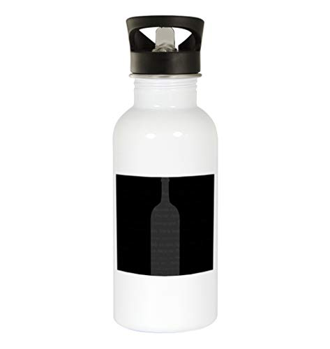 Neutral Wine #102 - Funny Humor 20oz White Water Bottle