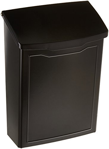 Architectural Mailboxes 2681B Marina Wall Mount Mailbox Black Marina Wall Mount Mailbox, Small
