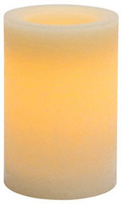 Inglow Flameless Candle Round Vanilla-Scented Pillar with Timer, 4 by 6-inch tall, Cream (Pillar Candle Round Vanilla Scented)