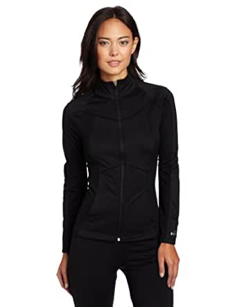 Spalding Women's Tricot Tech Jacket, Black, Medium