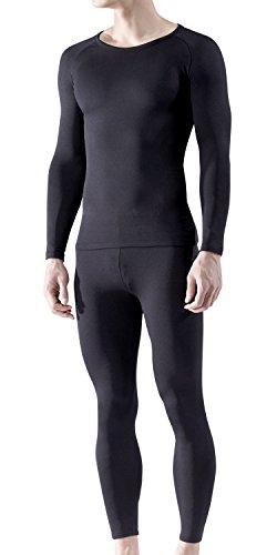Tesla BU-MHS100-BLK_3X-Large Blank Men's Microfiber Fleece Lined Top & Bottom Set MHS100