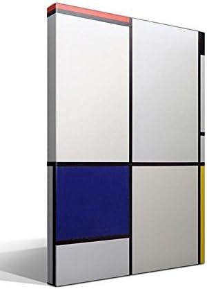 Cuadro Canvas Tabla I con Rojo, Negro, Azul y Amarillo de Mondrian ...