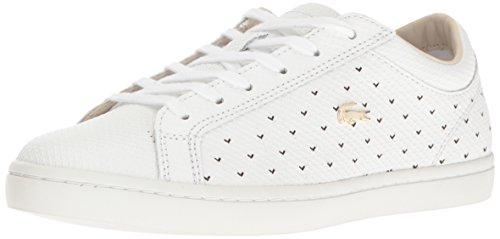 Lacoste Women's Straightset 117 3 Fashion Sneaker, White, 6.5 M US
