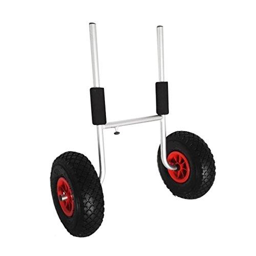 MagiDeal 1x Kayak Carretilla Tranvía Carrito Carreta para Transporte Accesorios Deportivos Aluminio Plata Neumáticos Poliuretano Robusto Duradero: ...