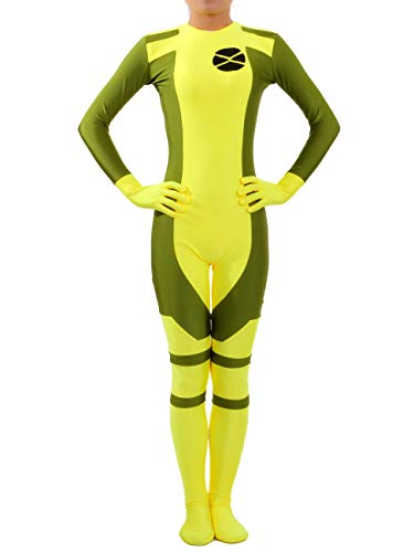 Seeksmile Unisex Lycra Spandex X-Men Ms Rogue Zentai Bodysuit (Medium, -