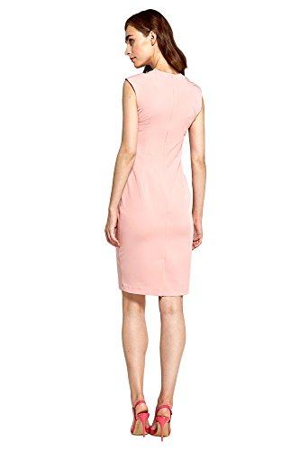 Rosa Abendkleid V Nife mit Kurzen Ausschnitt Ärmeln Businesskleid Damen und Kleid O6ac86pWv