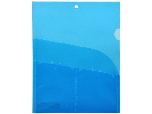 Lion 4-Pocket Plastic Organization Folder, Transparent Blue, Pack of 5 (49510-BL-5P)