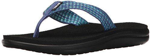 Teva Women's W Voya Flip Flop, bar Street Multi/Blue, 8 M US