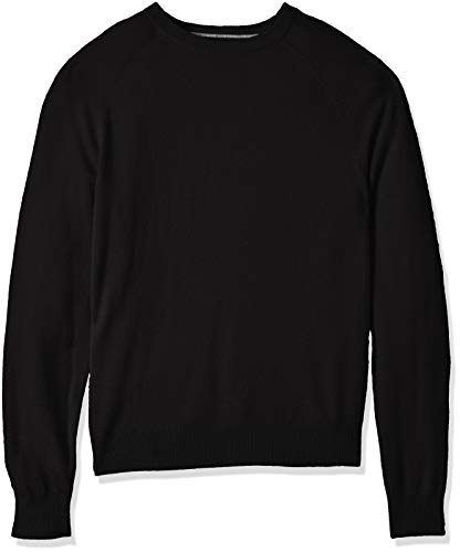 Sweater Black Crewneck Cashmere (BUTTONED DOWN Men's 100% Premium Cashmere Crewneck Sweater, Black, X-Large)
