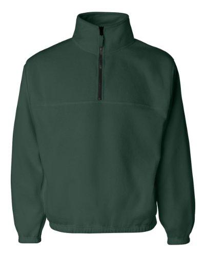 Sierra Pacific Adult Anti-Pill Fleece Quarter-Zip Pullover (Forest) (Anti Pill Fleece Pullover)