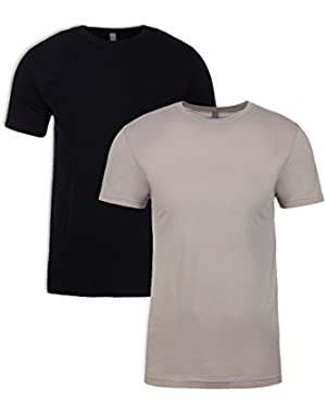 N6210 T-Shirt, Black + Silk (2 Pack), Large