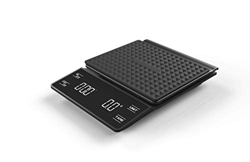 Digital Coffee Scale/Food Scale/Kitchen Scale with Timer, Sensitive Touch Button for Manual Brew Pour Over Coffee Drip or Espresso at Home - Multi Function with Weight Upto 6.6lb