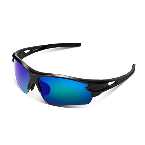 Tac Polarized sports sunglasses for Men Women Youth Baseball Military Motorcycle Running Fishing UV400