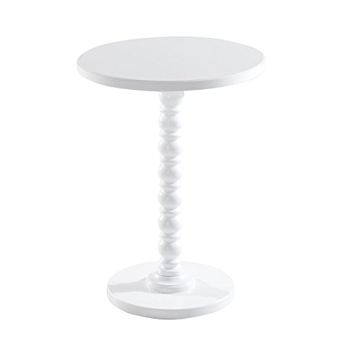 White Vintage Stylish Side Coffee Table Round Stand Desk Bar Outdoor Living Room