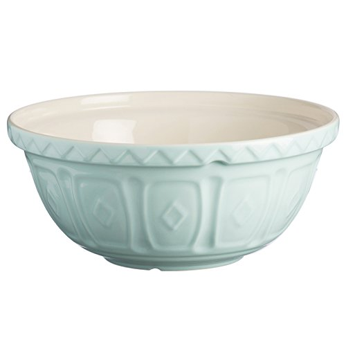 (Mason Cash Earthenware Mixing Bowl, S24, 9-1/2-Inches, Powder Blue)