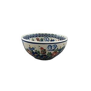 Boleslawiec Style Pottery Hand Painted Polish Ceramic Venus Bowl (16) 072-A-001