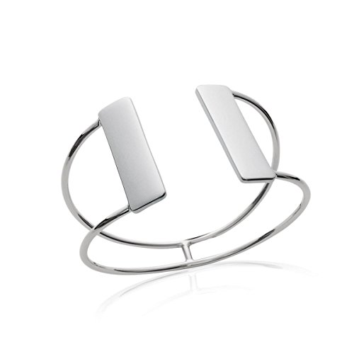 MARY JANE - Bracelet Argent Femme - Diam:58mm / Larg:58mm - Argent 925/000 rhodié (Manchette / Rectangle / Rigide)
