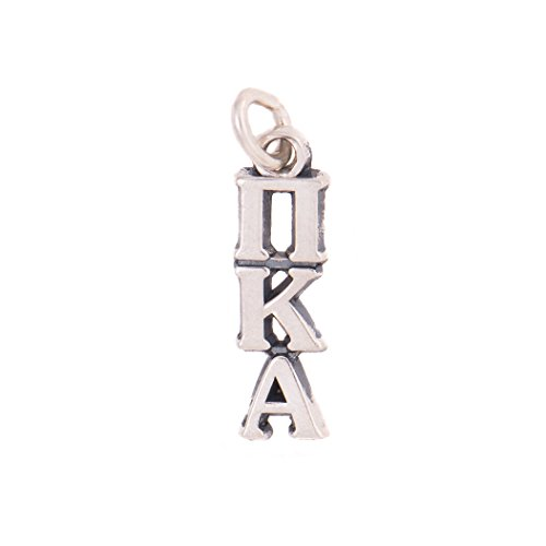 Pi Kappa Alpha Sorority Letter Sterling Silver or 14k Gold Lavalier Necklace with Chain Pike (Silver)