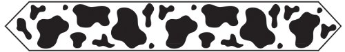 Printed Cow Print Table Runner Party Accessory (1 count) (1/Pkg)