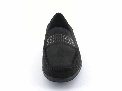 ara Women's 40128-01 Loafer Flats Black IzYw4SS