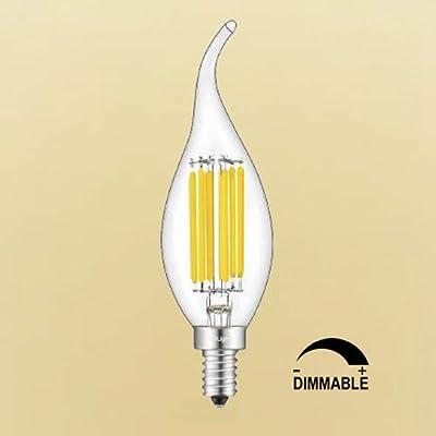 CRLight E12 LED Candelabra Bulb 6W 2700K 3200K 4000K 5000K LED Bulb