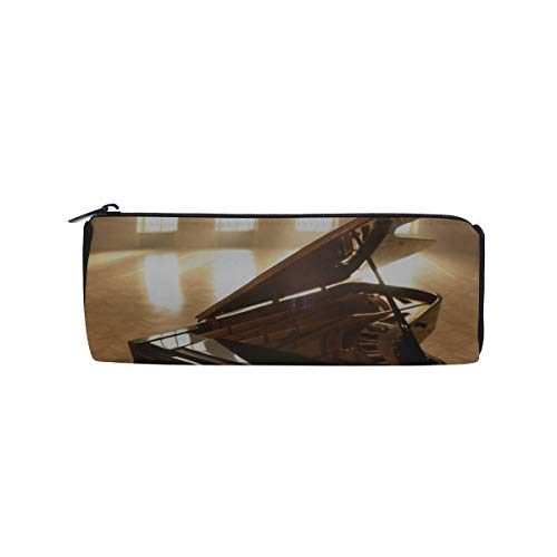 Barrel Pencil Case Un Dolce Suono Di Pianoforte Pencil Holder Pen Bag Cosmetic Bag Makeup Pouch Sturdy Multifunctional for Children Youth Middle School Office