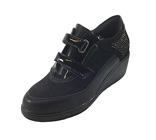 Cordones para Negro Zapatos de Mujer Sintético de MUDS v8q4wPH