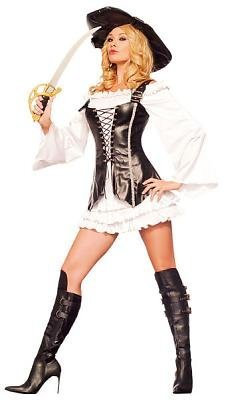 Lady Buccaneer Costume - Medium/Large - Dress Size 8-12