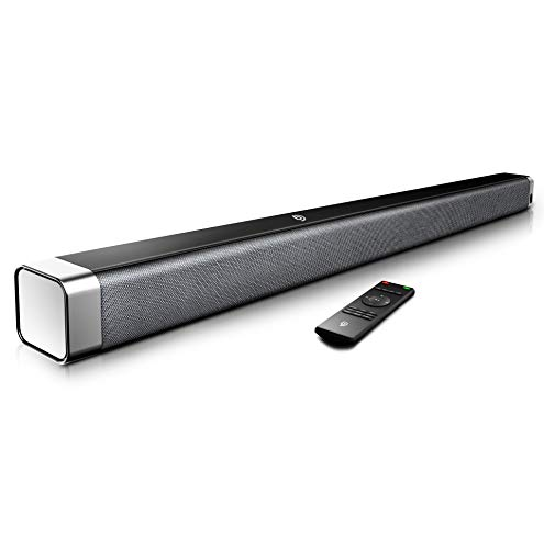 Bomaker 2.0 Channel Sound Bars for TV, Built-in Subwoofer, Bluetooth, 3D Surround Sound System, Optical, RCA Cable Included