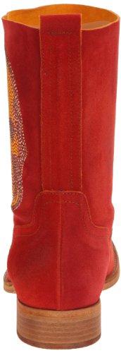 Now 1115 Damen Stiefel & Stiefeletten Rot - Rouge (Arancio Multicolore Ottone)
