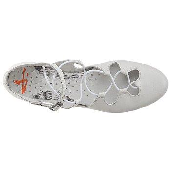 J Shoes Womens Chrissy Flat, Size 7, White