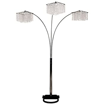 Amazon artiva usa led602108fbz lumiere modern led 3 arched ore international 6932 84 inch 3 light crystal inspirational arch floor lamp mozeypictures Choice Image