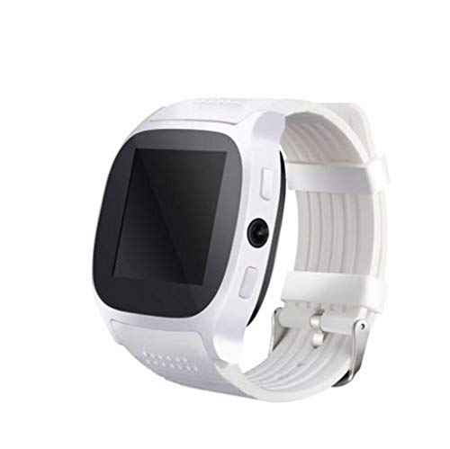Highpot Smart Watch T8 BT3.0 Smart Wrist Watch Support SIM and TFcard Camera Pedometer Sport Tracker for IOS iPhone Android - White Gold Plated Wrist Watch