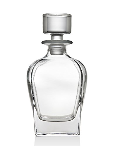 Godinger Silver Art Madison Ave Non-leaded Crystal Curved 680 ml Whiskey Decanter With Glass Stopper
