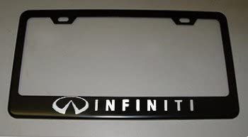 Fit Infiniti Black License Plate Frame with Cap