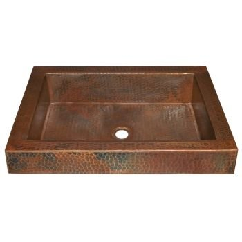 Native Trails CPS246 Tatra Copper Drop-in Bathroom Sink, Antique Copper (Batroom Decor)