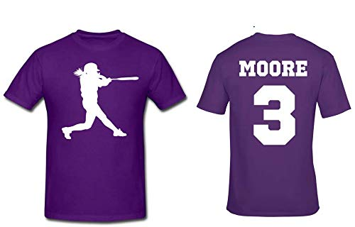 personalized girls softball shirt with name and number custom softball shirt