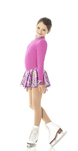 Mondor 4403 Peace and Love Polartec Long Sleeve Figure Skating Dress 6X-7
