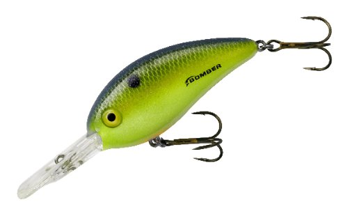 Bomber Fat Free Square Lip Lures, Foxy Lady, 2.5-Inch