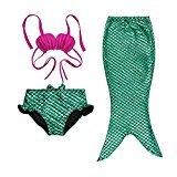 Gprince 3pc Baby Girl Princess Mermaid Sequins Swimsuit Bow Costume Headband Bikini - Map Mall Gardens