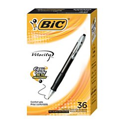 BIC Velocity Retractable Ball Pen, Medium Point (1.0mm), Black, 36-Count