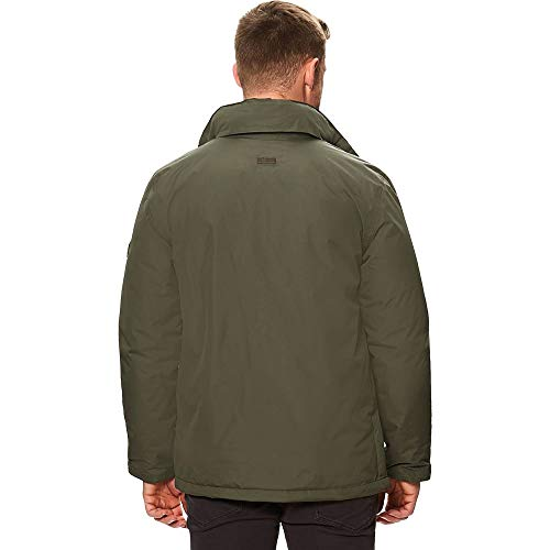 Thermoguard Uomo Khaki Regatta Hebson Waterproof Hooded Insulated Giacca Dark wCTE6qC